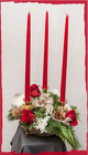 Holiday Gold And Red Candles from Rick Anthony's Flower Shoppe in Lansing and Holt, MI