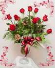 Holiday Roses from Rick Anthony's Flower Shoppe in Lansing and Holt, MI