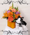 Fall Cubed Cat Bouquet from Rick Anthony's Flower Shoppe in Lansing and Holt, MI