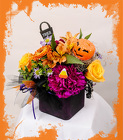 Festive Fall Cube from Rick Anthony's Flower Shoppe in Lansing and Holt, MI