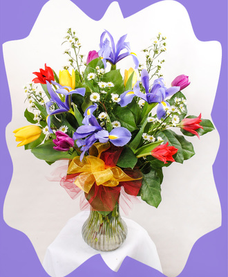 Tulips and Iris Bouquet