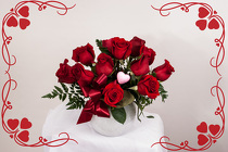 Short Stem Red Roses for Valentines Day from Rick Anthony's Flower Shoppe in Lansing and Holt, MI