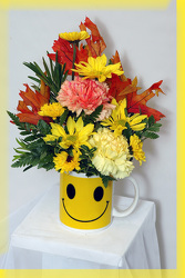 Fall Smile Bouquet from Rick Anthony's Flower Shoppe in Lansing and Holt, MI