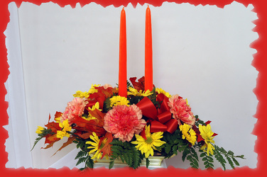Thanksgiving Centerpiece from Rick Anthony's Flower Shoppe in Lansing and Holt, MI
