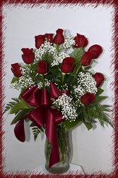Select Dozen Ruby Red  Roses  from Rick Anthony's Flower Shoppe in Lansing and Holt, MI