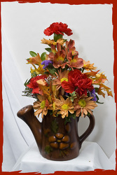 Fall Watering Can Floral Bouquet