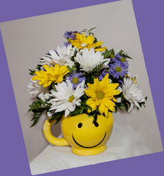 Happy Day Daisy Bouquet from Rick Anthony's Flower Shoppe in Lansing and Holt, MI