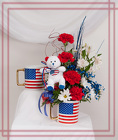 Patriotic Mug and Bear from Rick Anthony's Flower Shoppe in Lansing and Holt, MI