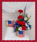 Patriotic Mug from Rick Anthony's Flower Shoppe in Lansing and Holt, MI