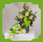 A Frogging Around Bouquet with Mr Fluffy Frog from Rick Anthony's Flower Shoppe in Lansing and Holt, MI