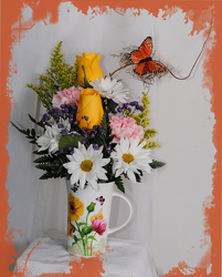 Elegant Mug Bouquet from Rick Anthony's Flower Shoppe in Lansing and Holt, MI