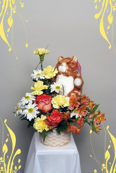 A Kitty Cat Bouquet from Rick Anthony's Flower Shoppe in Lansing and Holt, MI