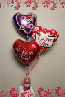 Love You Balloons and Candle from Rick Anthony's Flower Shoppe in Lansing and Holt, MI