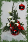 Snow Flake Ornament Bouquet from Rick Anthony's Flower Shoppe in Lansing and Holt, MI