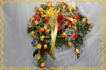 Blended Yellow Rose Casket Spray