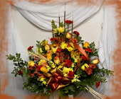 Fall Floral Traditional Spray from Rick Anthony's Flower Shoppe in Lansing and Holt, MI