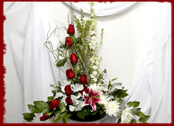 Contemporary Red and White Design from Rick Anthony's Flower Shoppe in Lansing and Holt, MI