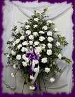 Standing Spray in White and Lavender from Rick Anthony's Flower Shoppe in Lansing and Holt, MI