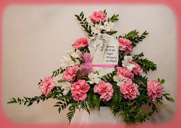 Forever With The  Angels Memory Arrangement from Rick Anthony's Flower Shoppe in Lansing and Holt, MI