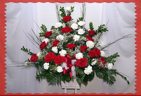 Red and White Remembrance from Rick Anthony's Flower Shoppe in Lansing and Holt, MI