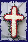 Cross Of Red White and Blue from Rick Anthony's Flower Shoppe in Lansing and Holt, MI