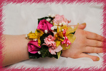 Hot Pink Wrist Corsage from Rick Anthony's Flower Shoppe in Lansing and Holt, MI