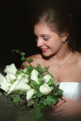 Brides Calla Lilies and White Roses