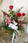 Stargazer Lilies and Roses from Rick Anthony's Flower Shoppe in Lansing and Holt, MI