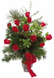 Select Christmas Roses from Rick Anthony's Flower Shoppe in Lansing and Holt, MI