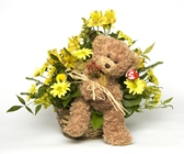 Bear And Floral Arrangement from Rick Anthony's Flower Shoppe in Lansing and Holt, MI