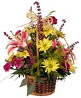 Basket of Cheer from Rick Anthony's Flower Shoppe in Lansing and Holt, MI